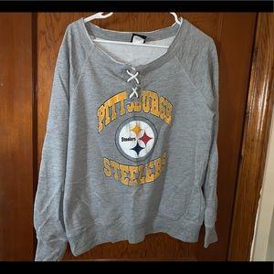 Steelers sweatshirt women's L